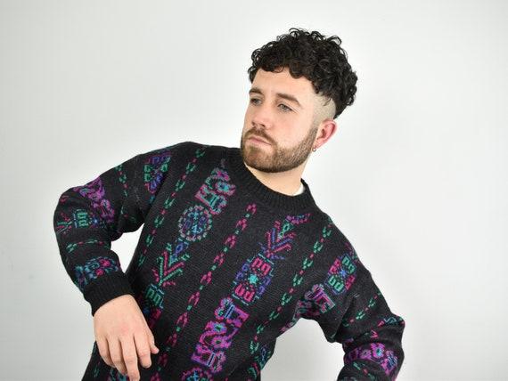 STEFFNER vintage 80s knitted sweater / wool & alpa
