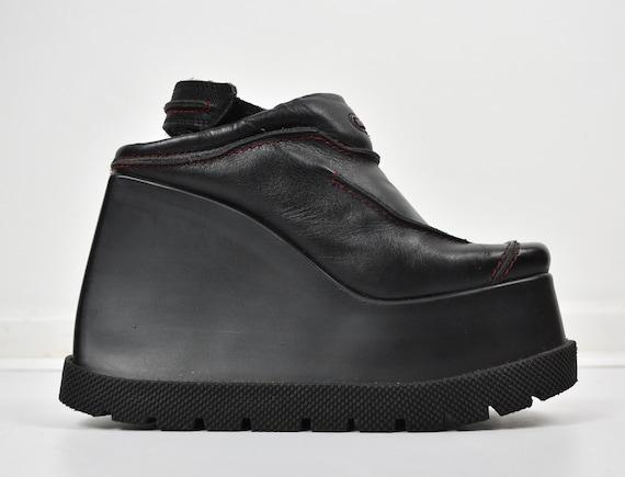 HEX 90s vintage platform shoes / cut off / black w