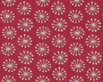 Dandelion fabric by Makower, pink
