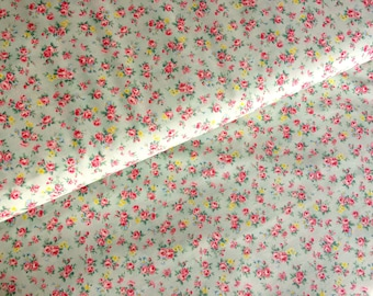 Rose fabric by Cosmo green