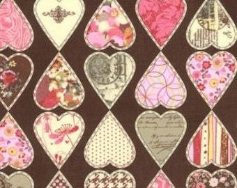 Moda fabric hearts, nostalgic, hearts