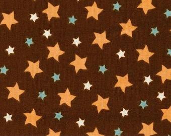 Riley Blake Fabric Stars Brown