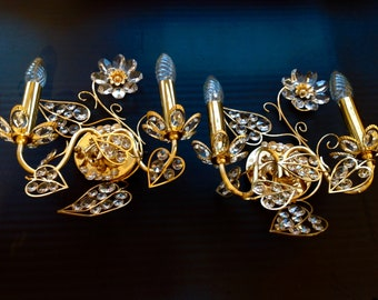 Plafoniere Kristall Antik : Kristall wandlampe etsy
