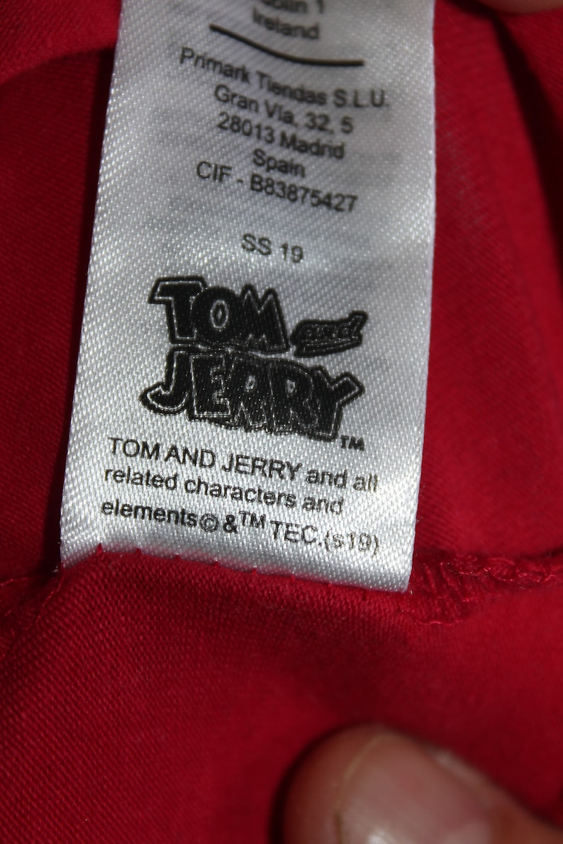 Tom and Jerry Ladies shirt size S