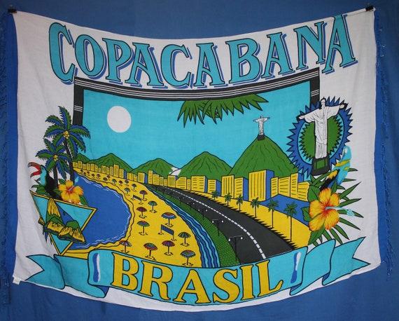 Copacabana Colorful Beach blanket sarongs Brazil C