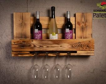 Wine rack in pallet VinoLino Junior, pallet furniture
