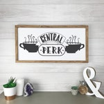 Central Perk Sign, Friends Wood Framed Sign, Coffee Bar Sign, Kitchen Decor
