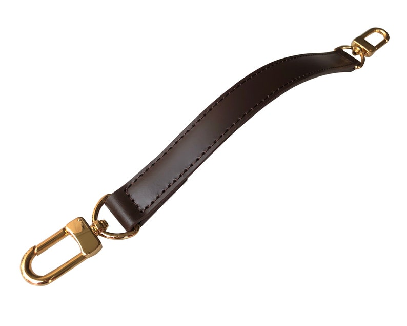 Handbag Strap Gold Silver Brass Clasps Customized in Any Length 2cm Width Designer Tote Genuine Vachetta Leather Top Handle Purse