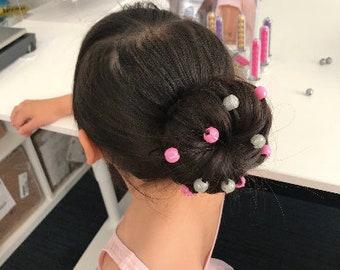 Girls Hair Charms All Pretty Pink 6 Charms per Test tube Dress Up Party Dance Headwear Gift Teenage Clipacharm non-slip hair Accessories