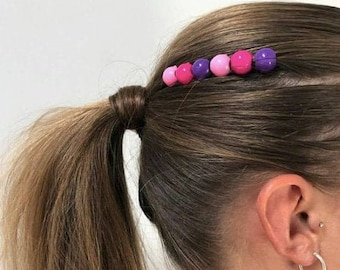 Girls Hair Charms Purple Pink 6 Charms in Test tube Dress up Party Dance Headwear Gift Teenage Toddler Clipacharm Non-slip Hair Accessories