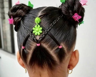 Girls Flower Hair Pendant Dress Up Party Dance Headwear Gift Toddler Teenage Collect Clipacharm Clips Kids Non-slip Hair Accessories