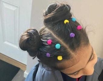 Girls Hair Charms Multi Colour 6 Charms Test tube Dress up Party Dance Headwear Gift Teenage Toddler Clipacharm Non-slip Hair Accessories