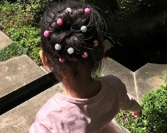 Girls Hair Charms Silvery Silver 6 per test tubes Teenage Party Dress up Dance Headwear Clipacharm Non-slip hair accessories