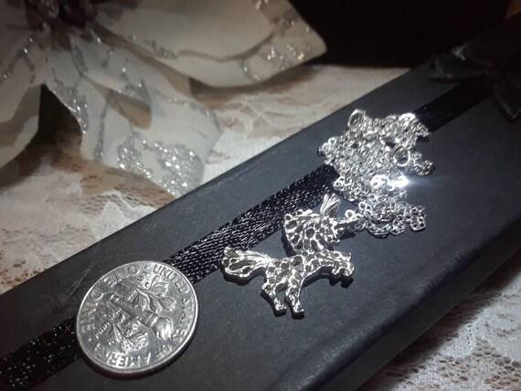 Vintage Silver Unicorn Necklace - image 2