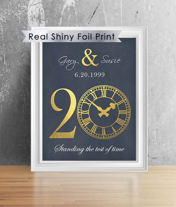 20th Anniversary Gift For Couples 8x10 Print 10th Etsy