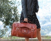 Travel bag Men and women leather mixed leather messenger bag, leather crossbody bag, leather computer bag, retro bag, leather messenger bag
