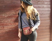 Leather belt bag banana bag leather banana leather bag in vintage style, bag worn belt leather pouch woman leather bag