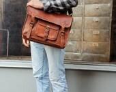 Men's leather messenger leather messenger bag, leather shoulder bag, leather computer bag, leather satchel, leather satchel