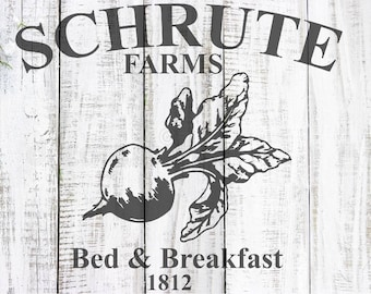 Schrute Farm, Dwight Schrute, The Office, SVG, Vector, Cuttable Design, Silhouette, Cut File, Cricut, Shirt Design, Cricut Design Space