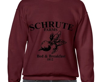 Schrute Farms, Bed and Breakfast 1812, The Office, Dwight Schrute, Sweatshirt, Crewneck, Sweater