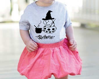 Harry Potter Inspired, Toddler Shirt,  Hogwarts, Slytherin Themed, Little Kids, Toddler Gift, Graphic Tee, FREE Shipping Canada and USA