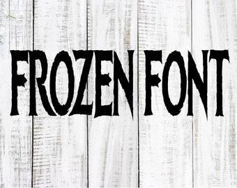 Disney FROZEN Inspired Font, Ice Kingdom Bold Font, TTF. OTF. Font files, Digital Download, Cricut, Microsoft, Adobe, Cricut Design Space