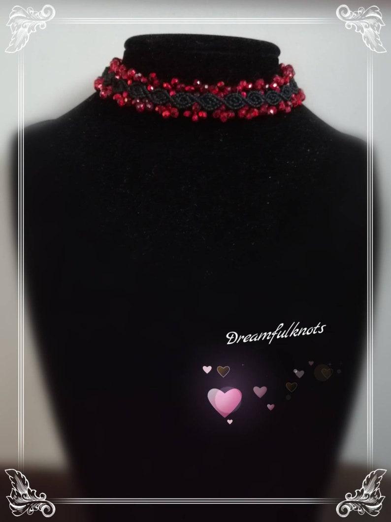 many colors necklace length adjustable Macrame choker jewelry hypoallergenic handmade macrame jewelry statement necklace