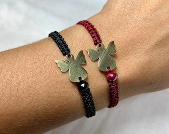 Guardian Angel Bracelet, Angel Jewelry, Great Christmas Gift, Macramé Bracelet Angel, Length Adjustable, Many Colors