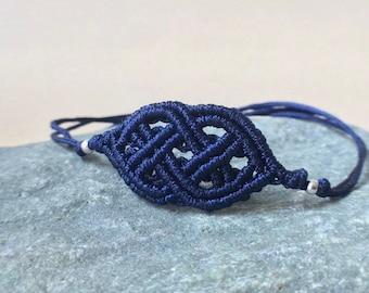 Bracelet Celtic knot, bracelet Celtic style, filigree bracelet, macrame bracelet macrame, many colors possible, length adjustable