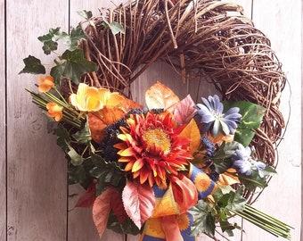 """Door wreath """"Colorful autumn"""""""