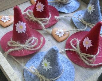 Felt hats *** Decoration for autumn, Oktoberfest and more...