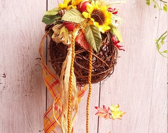 "Window decoration ""Autumn vine ball"""