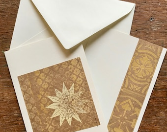 Beautifully understated upcycling card set for Christmas mail