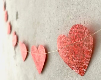 Heart garland for favorite people