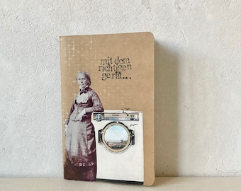 DinA6 Notebook with Cover collage
