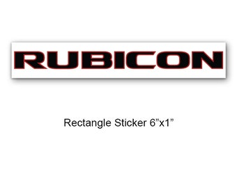 Rubicon decal | Etsy