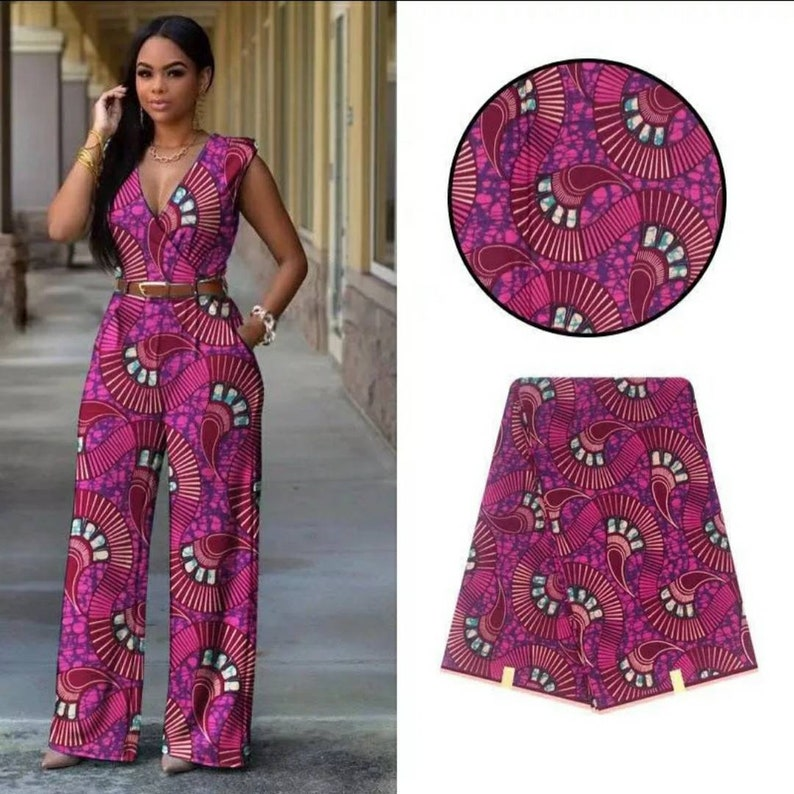 African wax Ankara cotton print sold by meter African Dress image 0