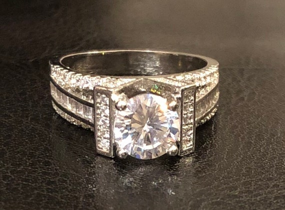 6*8mm Oval Cubic Zircon Filling 14KT White Gold Jewelry Wedding Engagement Ring