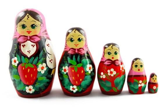 Zootopia Judy Nick Matryoshka Russian Nesting Dolls Babushka Matrioshka 5 Pcs