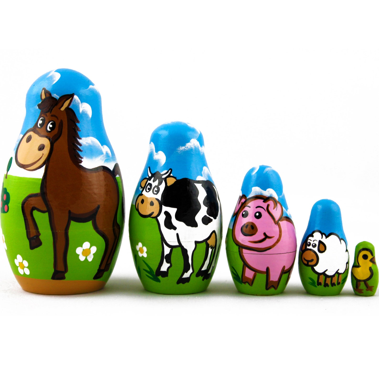Farm Animal Nesting Dolls