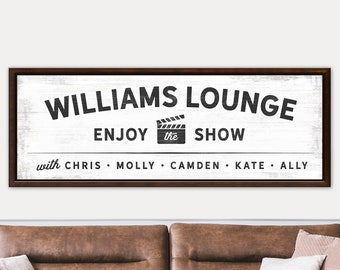 Custom Theater Sign | Movie Theater | Home Theatre | Movie Room Decor | Cinema Signs | Lounge Sign