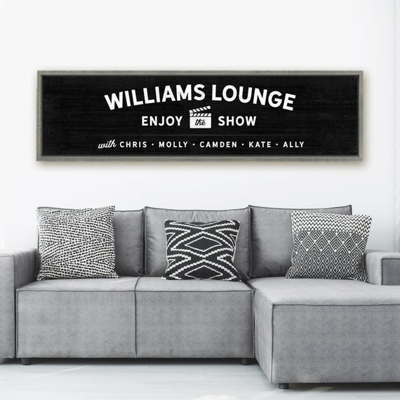 Custom Lounge Sign Personalized Movie Theater Decor Game Etsy
