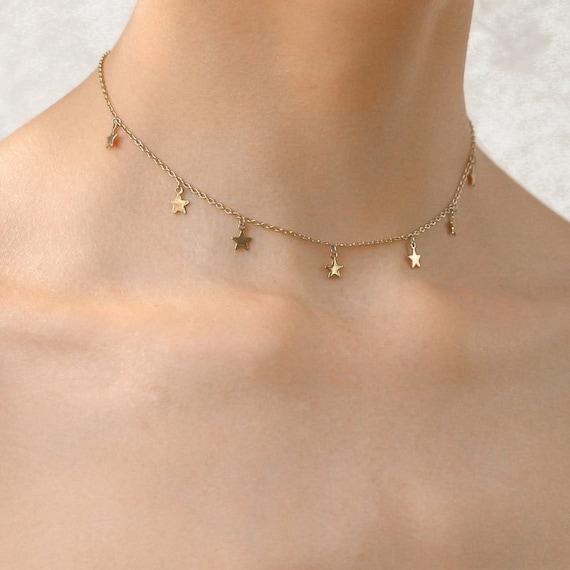 delicate necklace Star necklace drop necklace dainty necklace Dangle Necklace gold necklace Choker necklace Starbust necklace