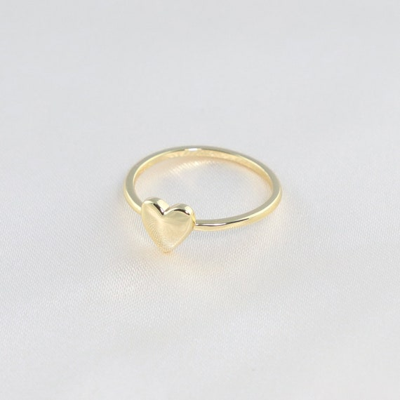 18k-gold-heart-ring---dainty-love-ring---stacking-rings---minimalist-ring---statement-ring---gift-for-her by etsy