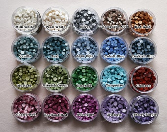 d8f95a2f6 Superior Sealing Wax Beads 20 Colors Collection - Octagon Wax Seal Beads  150 pcs in Bottle - Fine Nice Color Wax Beads Collections