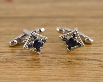 Accesorios de boda para hombre mensgift Accesorios Gemelos Esmalte Azul Ian Flaherty