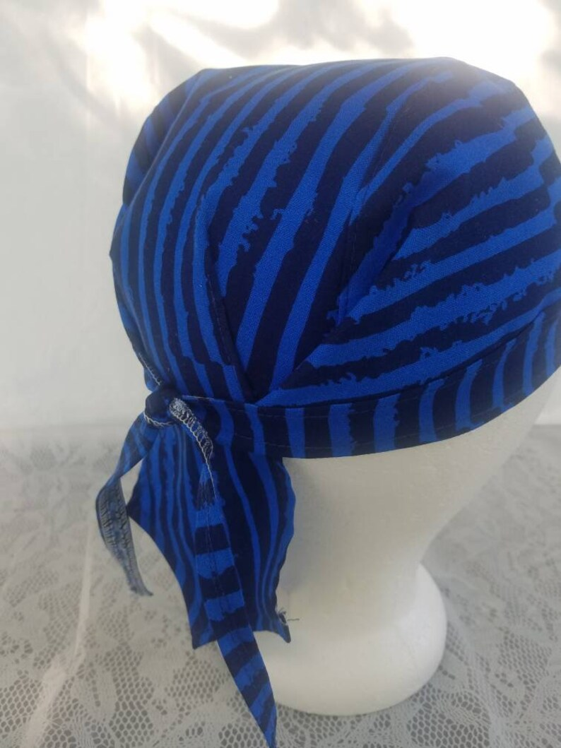 120fae23010fe Blue du-rag mens durag biker head wrap welders wrap chemo
