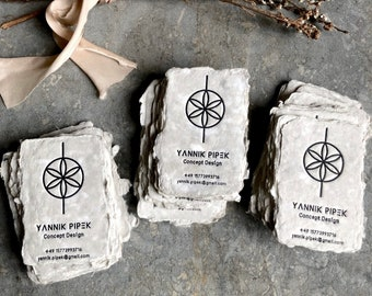 Handmade Paper Business Cards, Business Cards, Letterpress Business Cards, Letterpress, Letterpress Printing, Custom Business Cards