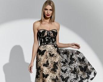 f6a3e0e8b3acbd Dress Jacqueline butterfly lace