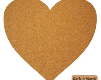 Wall in heart shape - made of cork - cork wall decoration - 60 x 60 cm